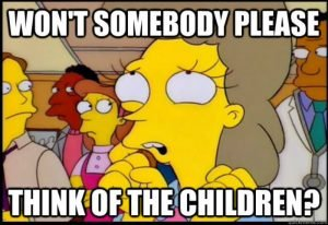 the simpsons think of the children