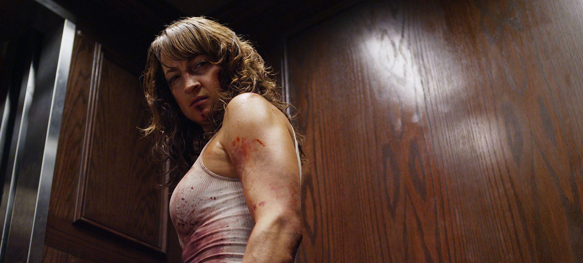 Raze. Zoe Bell as Sabrina