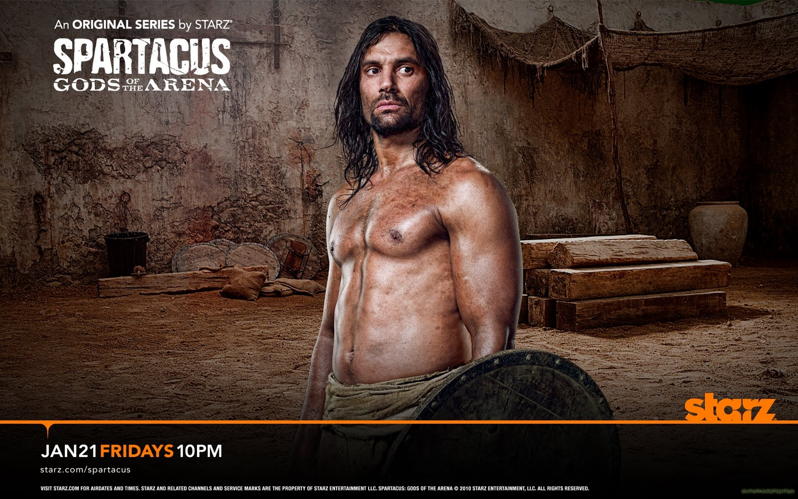 Spartacus: Gods of the Arena. Manu Bennett as Crixus