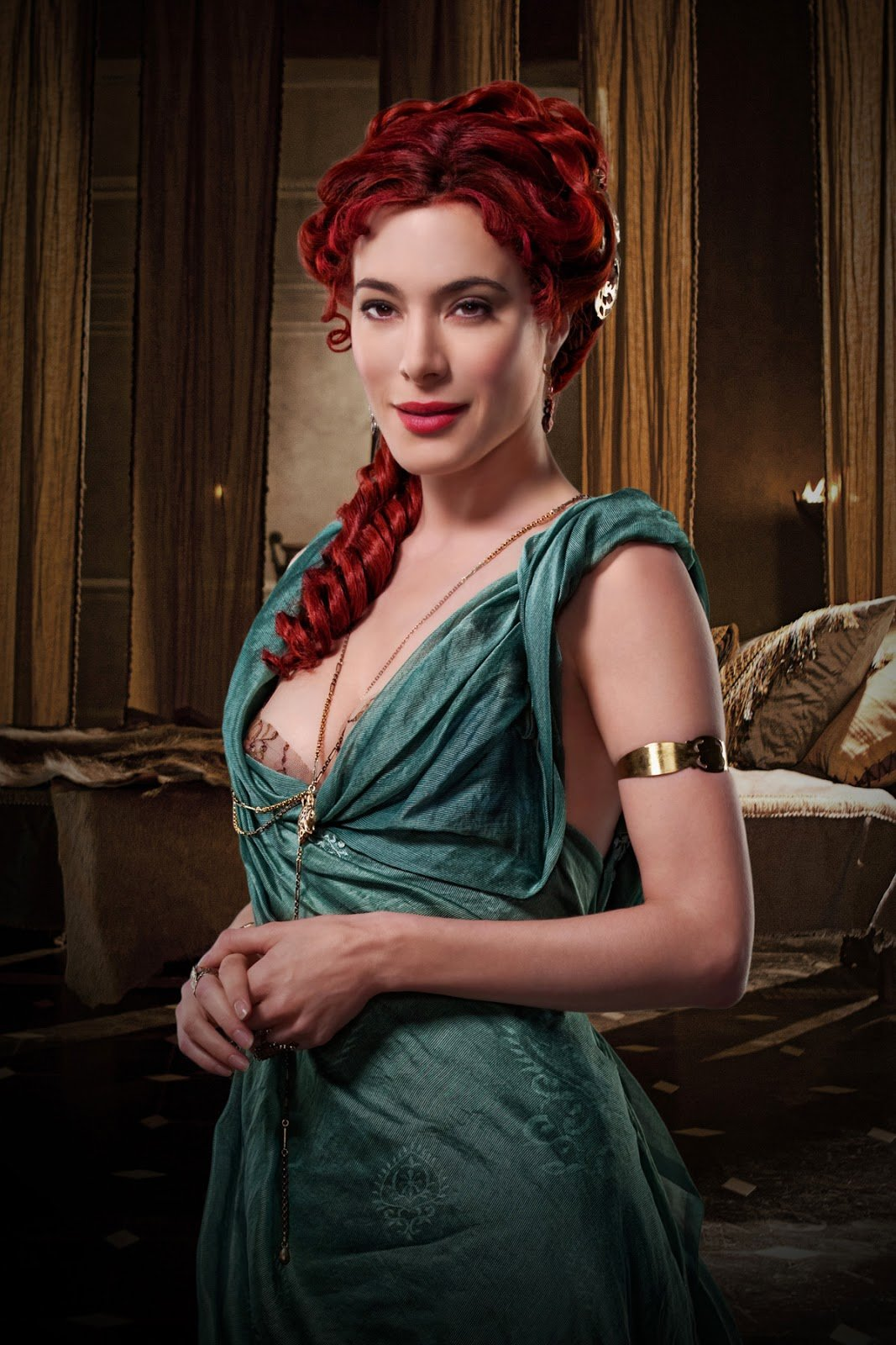 Spartacus: Gods of the Arena. Jaime Murray as Gaia